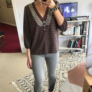 Forever 21 Printed Blouse